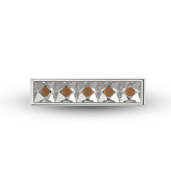 Rubik White Five-Light 12W LED Recessed Downlight, image 3