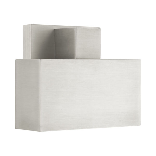 Lynx Brushed Nickel Seven-Inch One-Light Outdoor ADA Wall Sconce, image 4
