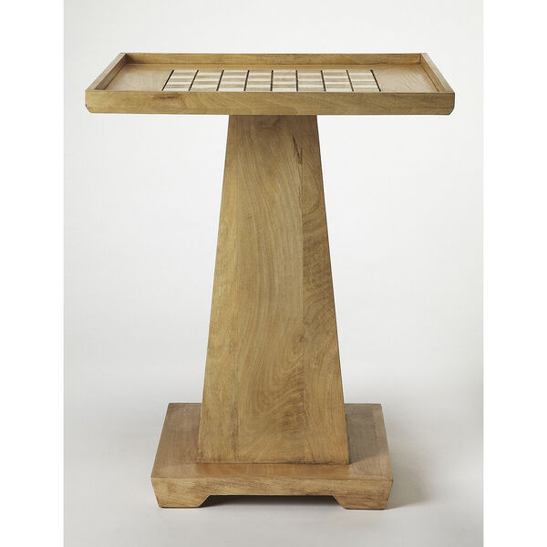 Butler Loft Levon Natural Mango Chess Game Table, image 5