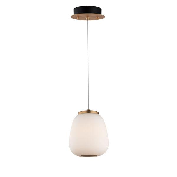 Soji Black and Gold 5-Inch Two-Light LED Mini Pendant, image 1
