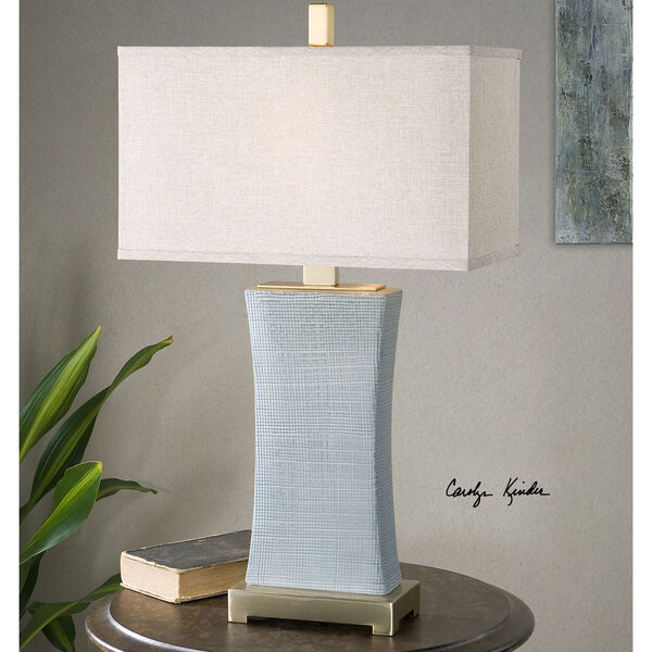 Cantarana Blue Gray One-Light Table Lamp, image 2