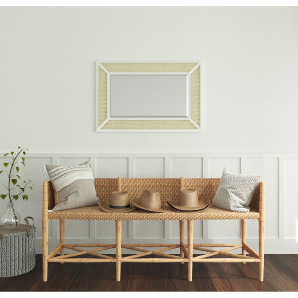 Dani Cane and White Wood 36-Inch x 24-Inch Wall Mirror, image 5