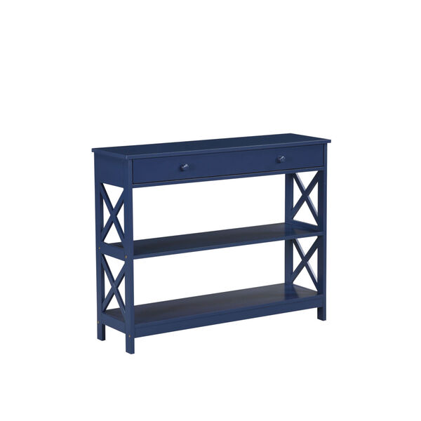 Oxford Cobalt Blue One-Drawer Console Table, image 2