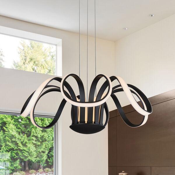 Capella Black 30-Inch LED Adjustable Chandelier, image 1