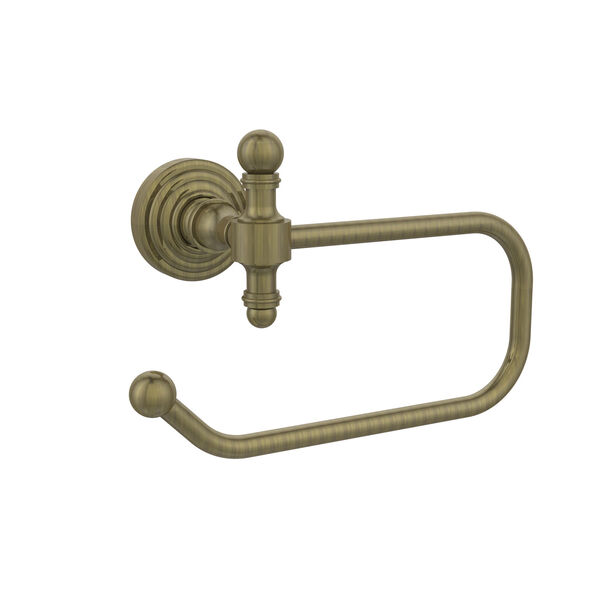 Antique Brass Euro-Style Toilet Paper Holder, image 1