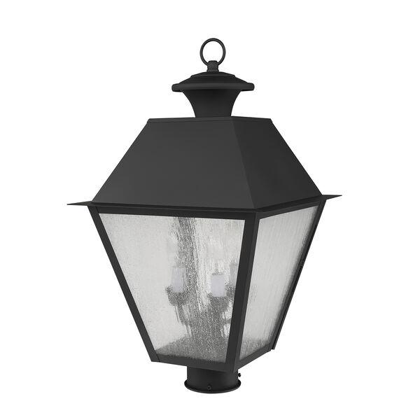 Mansfield Black Three-Light Outdoor Post Head, image 5