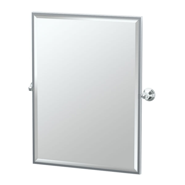 Charlotte Chrome Framed Large Rectangle Mirror, image 1