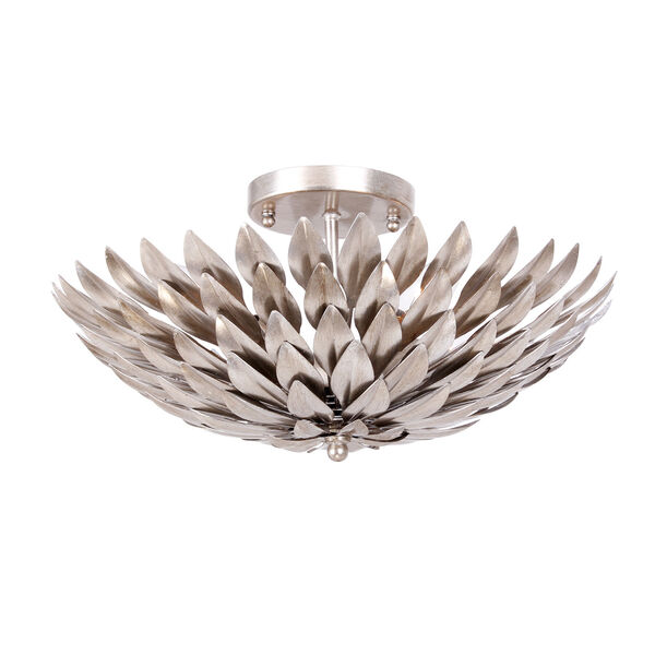 Broche Silver Four-Light Ceiling Mount, image 1