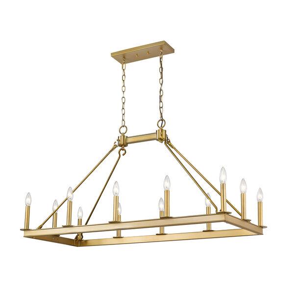 Barclay Olde Brass 12-Light Island Chandelier, image 1