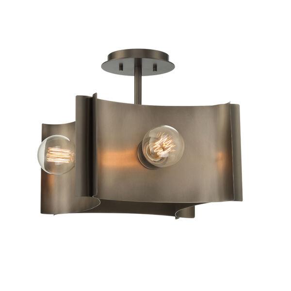 Metallo Vintage Nickel Four-Light Semi Flush Mount, image 1