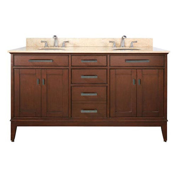Madison 60-Inch Vanity Only in Tobacco Finish, image 1