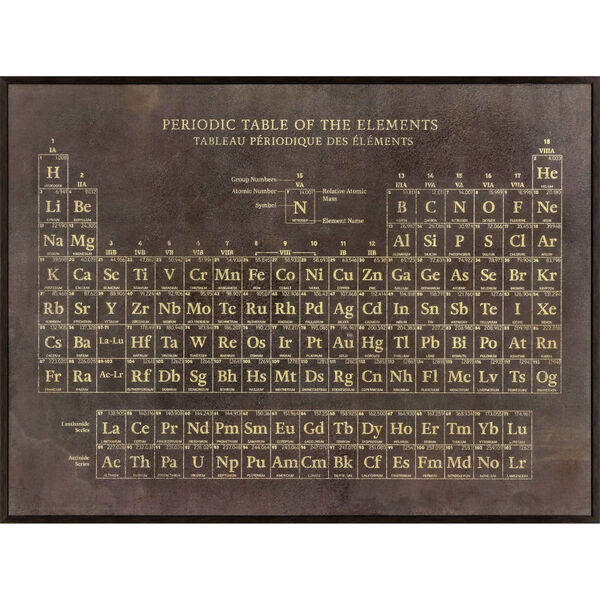 Periodic Table Brown Framed Art, image 1
