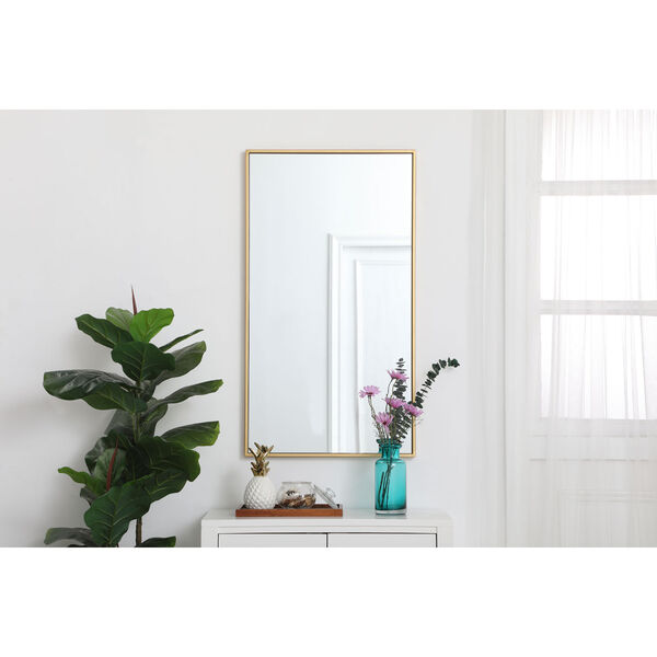 Eternity Brass 20-Inch Rectangular Mirror with Metal Frame, image 2