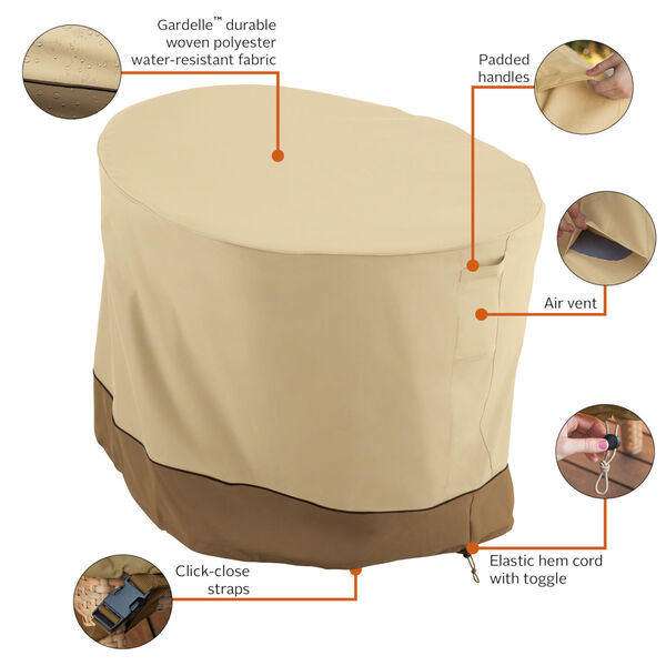Ash Beige and Brown Papasan Patio Chair Cover, image 2