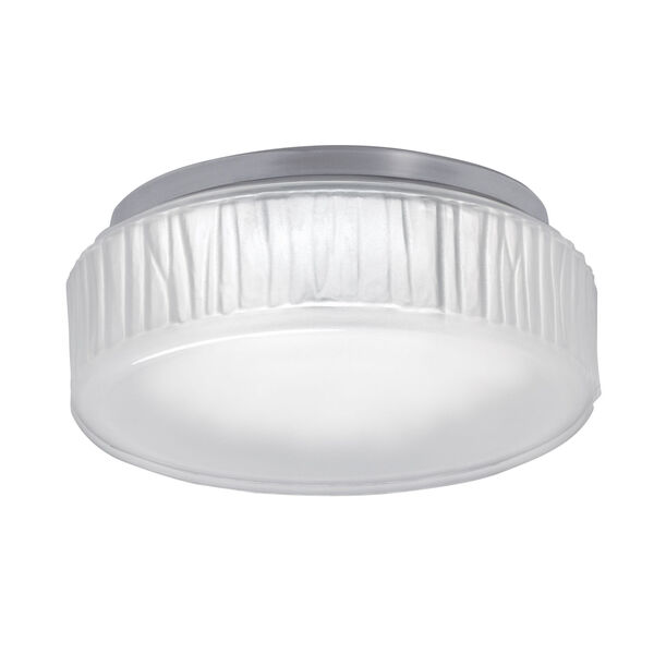 Bark Polished Nickel LED Flush Mount, image 1