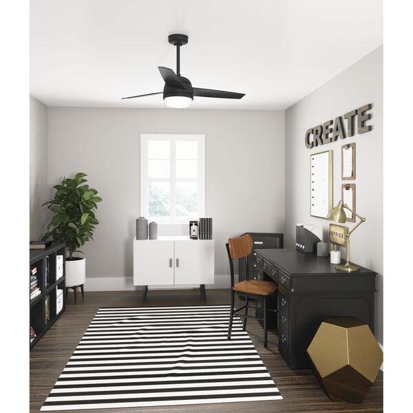 Midtown Matte Black 48-Inch Two-Light LED Ceiling Fan, image 4