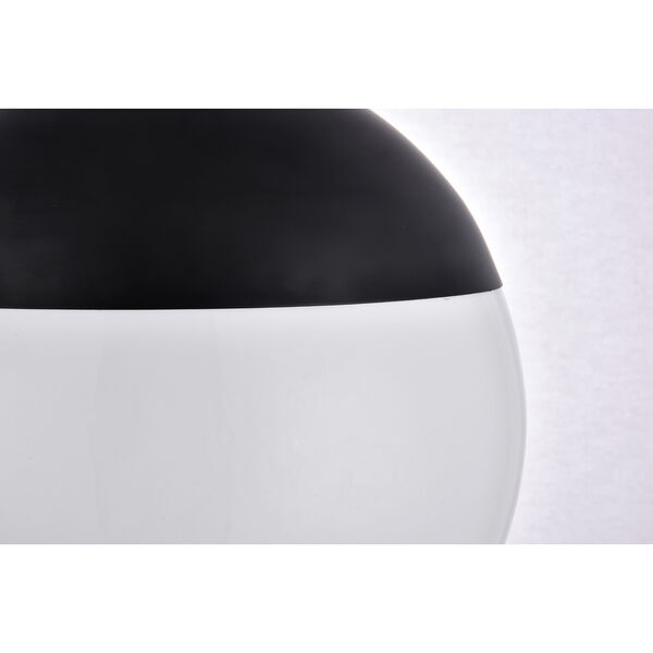 Eclipse Black and Frosted White 14-Inch One-Light Pendant, image 4