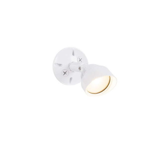 White One-Light Outdoor Security Flood, image 2