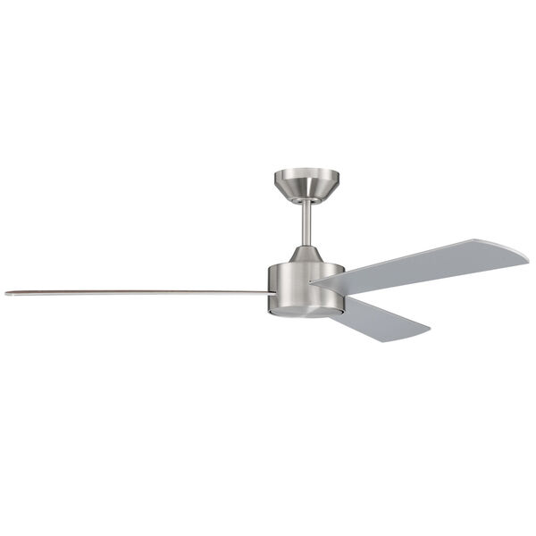 Provision Brushed Polished Nickel 52-Inch Ceiling Fan, image 1