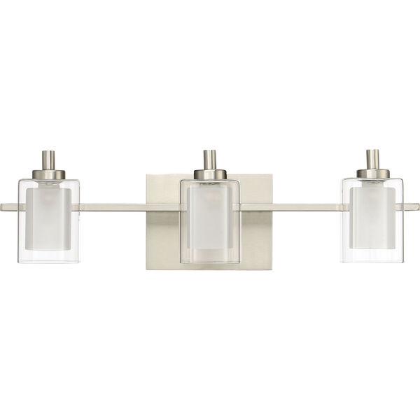 Kolt Brushed Nickel LED Three-Light Bath Light, image 2