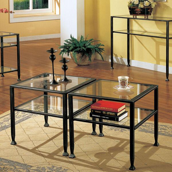 Black Metal Sofa Table, image 1