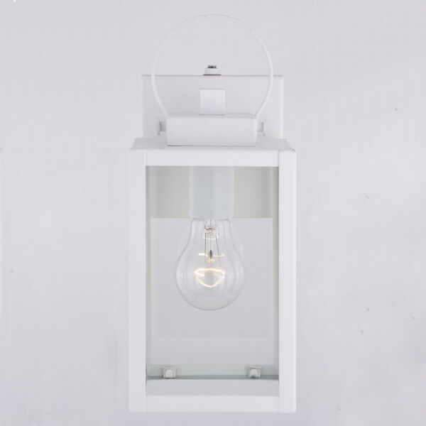 Medinah Textured White Five-Inch One-Light Outdoor Wall Sconce, image 5