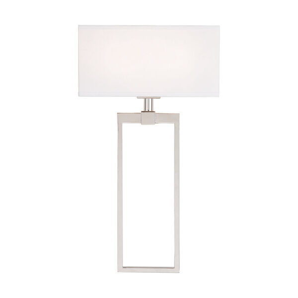 Polished Nickel Two-Light Sconce, image 1