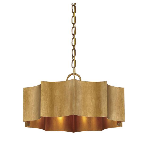 Shelby Gold Patina Three-Light Pendant, image 5