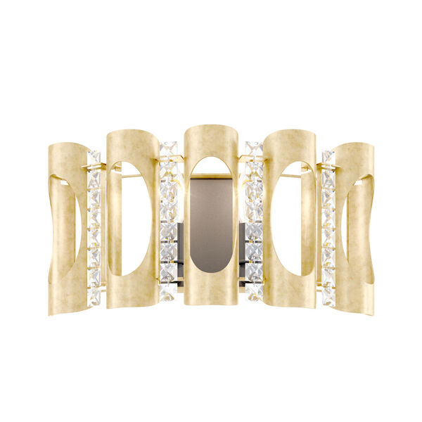 Twilight Heirloom Gold Two-Light Wall Sconce with Clear Heritage Crystal, image 1