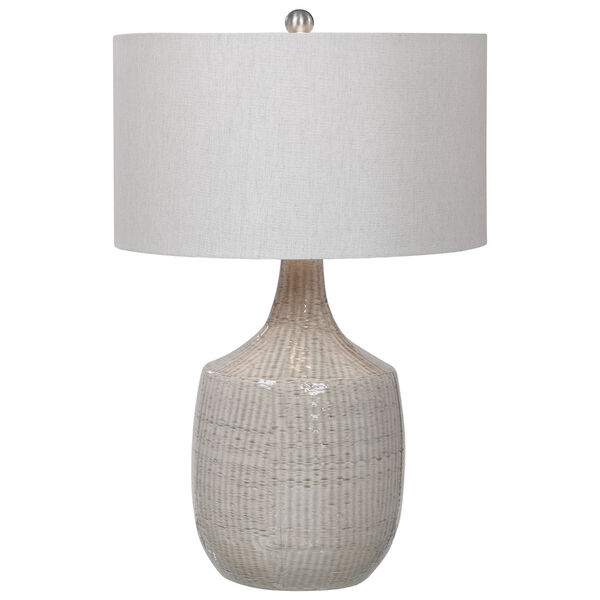 Felipe Brushed Nickel and Gray Table Lamp, image 1