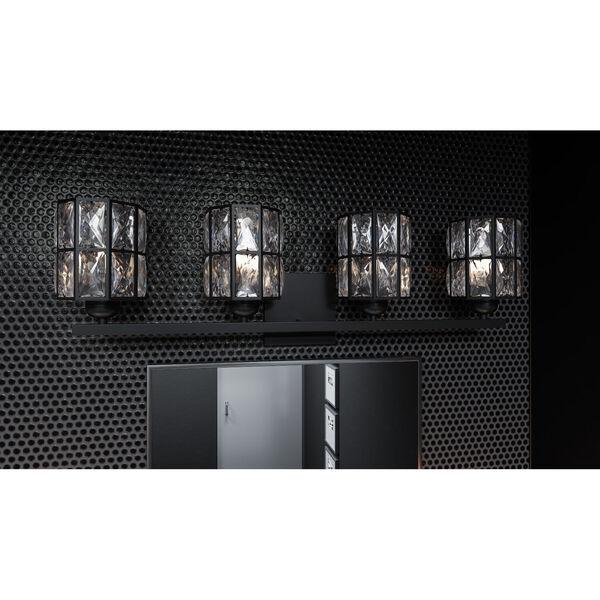 Gibson Matte Black Four-Light Bath Vanity, image 2