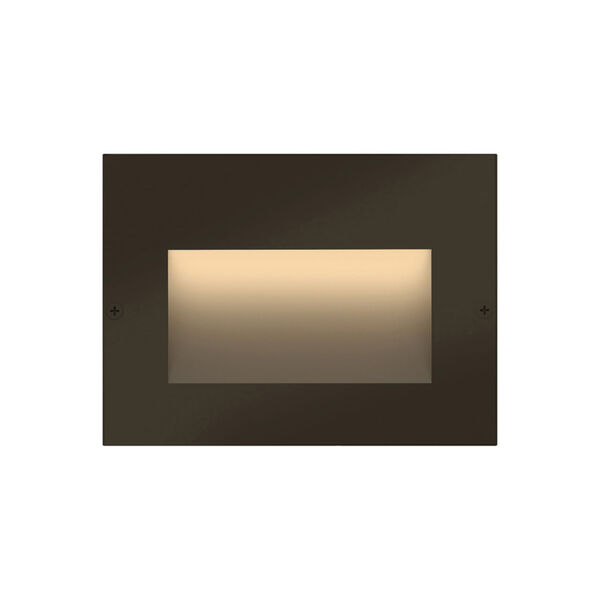 Taper Bronze LED Deck Light with Etched Glass, image 1