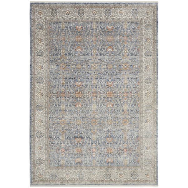 Starry Nights Light Blue Rectangular: 5 Ft. 3 In. x 7 Ft. 3 In. Area Rug, image 1