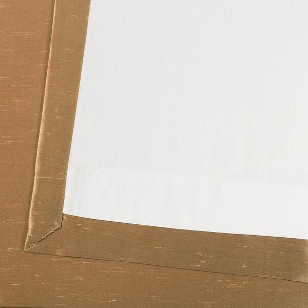 Flax Gold Vintage Textured Faux Dupioni Silk Single Panel Curtain, 50 X 84, image 6