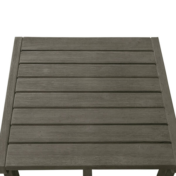Renaissance Grey Outdoor Wood Side Table, image 3