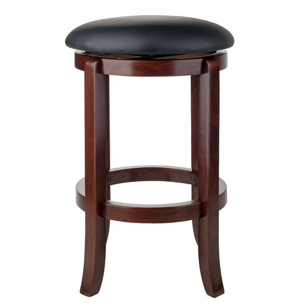 Walcott Walnut and Black Swivel Seat Counter Stool, image 4