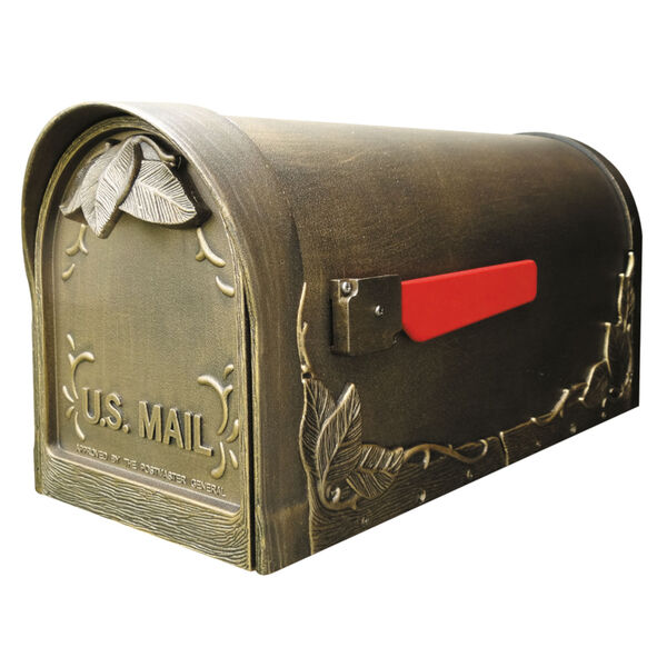 Floral Bronze Curbside Mailbox, image 1