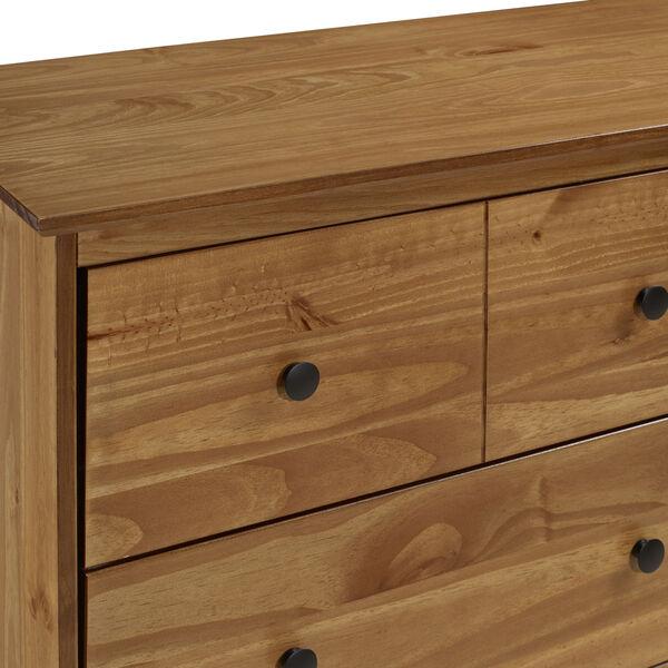 Caramel Six Drawer Dresser, image 4