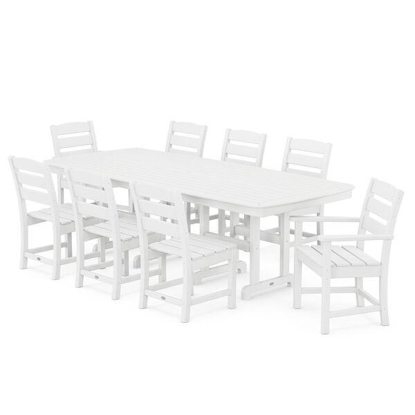 Lakeside White Patio Dining Set, 9-Piece, image 1