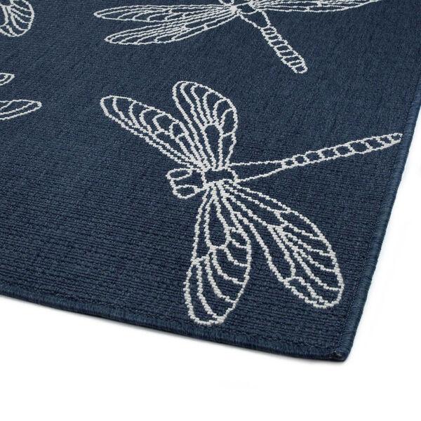 Dragonfly Navy Indoor/Outdoor Rug, image 5