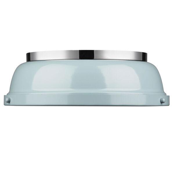 Duncan Seafoam and Chrome Two-Light Flush Mount, image 2