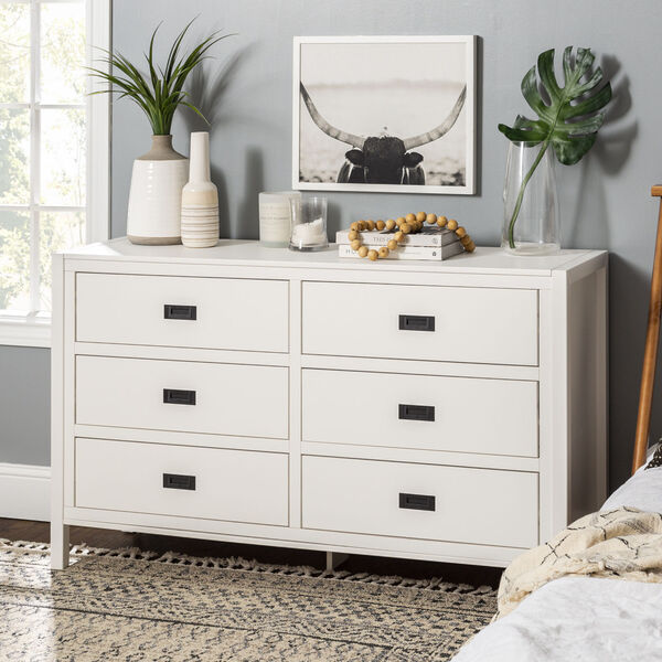 Lydia White Dresser with Six Drawer, image 1