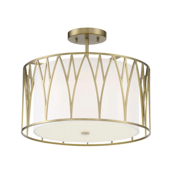 Regal Terrace Soft Brass LED Semi-Flush, image 1