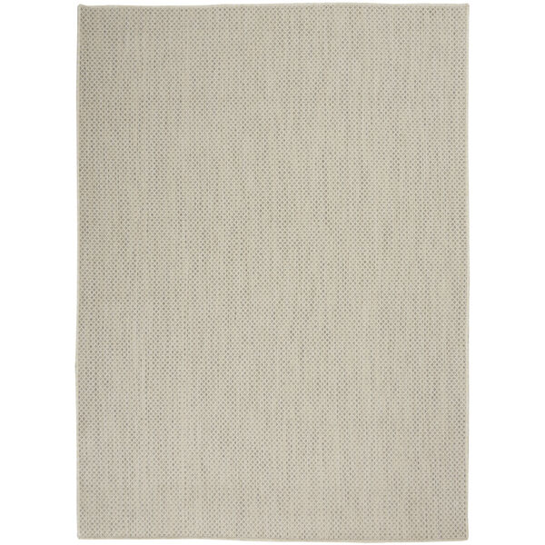 Courtyard Ivory and Silver 4 Ft. x 6 Ft. Rectangle Indoor/Outdoor Area Rug, image 2