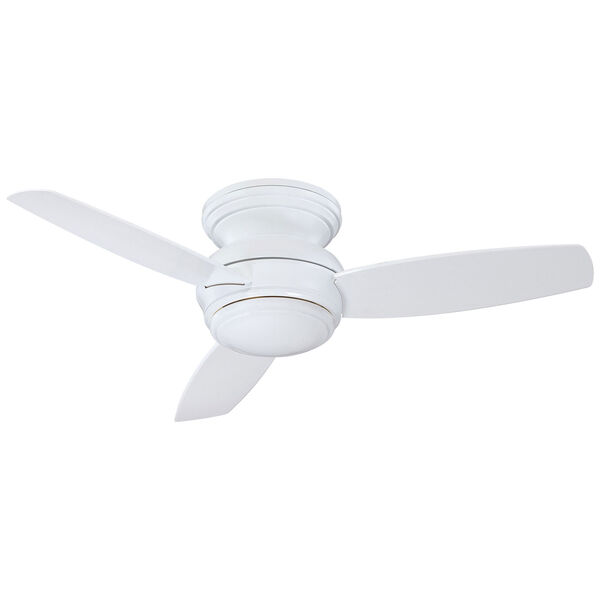 Traditional Concept White 44-Inch Outdoor LED Ceiling Fan, image 1