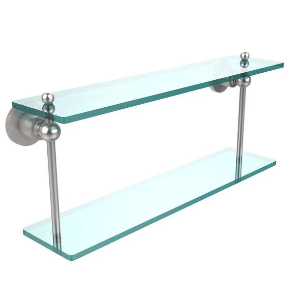 Satin Chrome 22-Inch Double Shelf , image 1