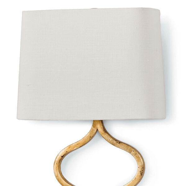 Classics Sinuous Gold Leaf 12-Inch One-Light Wall Sconce, image 2