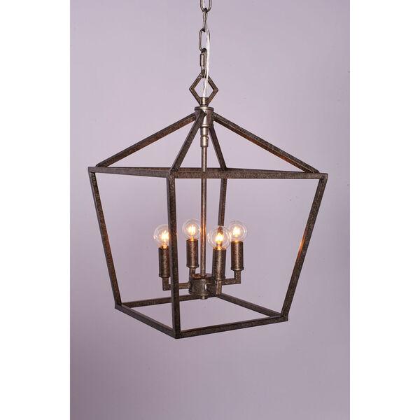 Kenwood Antique Silver Four-Light Lantern Pendant, image 7