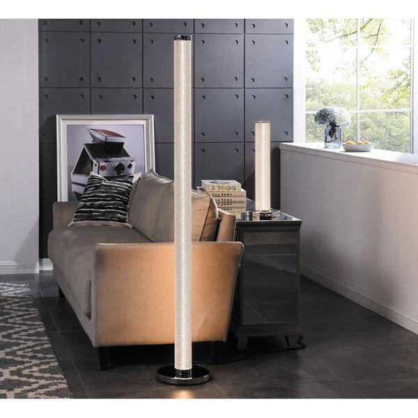 Quilla Chrome Diamond Acrylic LED Floor Lamp, image 4