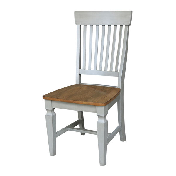 Vista Hickory Stone Slat Back Chair, Set of Two, image 1